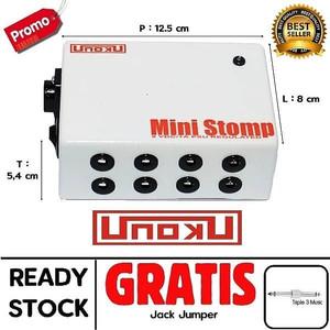 Unoku Mini Stomp Power Supply Efek Gitar 9volt 8port Dc 1000ma Stabil