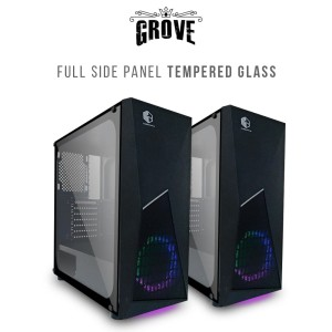 CUBE GAMING GROVE - ATX SIZE - SIDE TEMPERED GLASS - PSU COVER