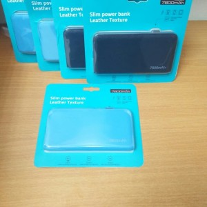 Bcare Powerbank Leather Texture Charging Cable Power indicator 7800mAh
