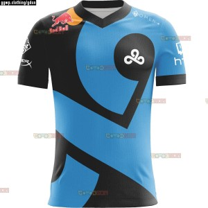 JERSEY KAOS BAJU TEAM GAMING DOTA2 CSGO ML AOV CLOUD 9 2018 BLACK