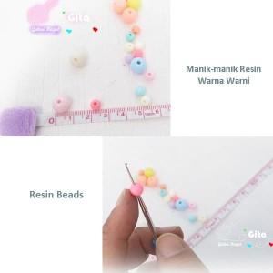 (12pcs) Manik-manik resin/Resin Beads 6mm