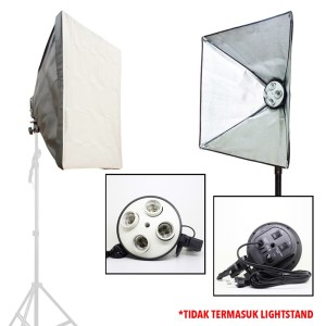 4-Lamp Holder with Softbox (60x60cm)