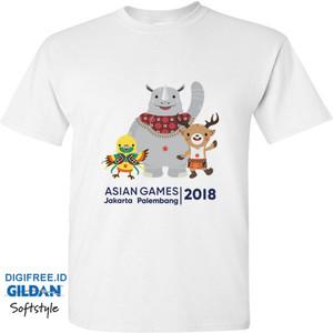 T-Shirt Kaos Asian Games 2018 Maskot Mascott Premium