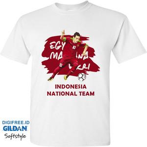 T-Shirt Kaos Asian Games 2018 versi Timnas Indonesia - Egy Maulana