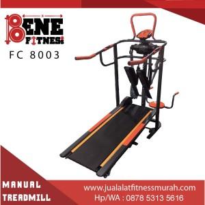 Treadmill Manual Lari Alat Fitness FC 8003 6 fungsi fitnes olahraga