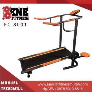 Treadmill Manual Lari Alat Fitness FC 8001 2 fungsi fitnes olahraga
