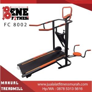 Treadmill Manual Lari Alat Fitness FC 8002 5 fungsi fitnes olahraga