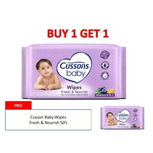 Cussons Baby Tisue Basah 60 persen Extra Shets