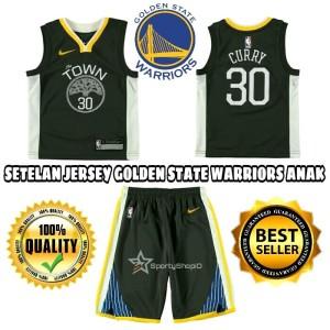 huge selection of 673bf c3e25 Jual JERSEY BASKET NBA ANAK / KIDS GOLDEN STATE WARRIORS HITAM THE TOWN -  Kota Bandung - Sporty Shop ID | Tokopedia