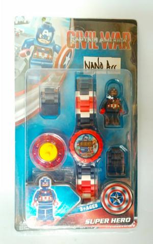 jam tangan lego. super hero lego watch