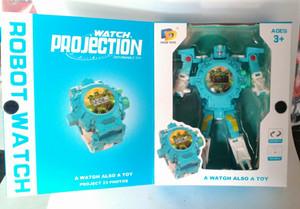 robot jam, watch deformable projection robot, jam robot proyeksi