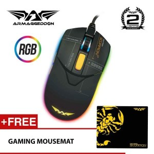Scorpion 7 RGB Gaming Mouse 4800CPI Free Gaming Mousemat by Armaggedon