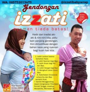 Jual Gendongan Bayi Izzati Baby Wrap Gaya Hanaroo Kangguru Samping