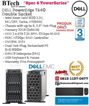 Jual DELL Server T640 Intel Xeon Gold 5120 Double Socket TowerSeries -  Jakarta Pusat - BESTechno88 | Tokopedia