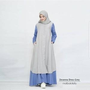 Zevana Dress Muslimah Model Terbaru Best Seller Fashionable