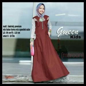 Dress Muslim Merk Gween Model Sederhana - Best Seller - Gaul