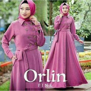Gamis Perempuan - Orlin Dress Muslim - Tampil Cute - Acara Resmi