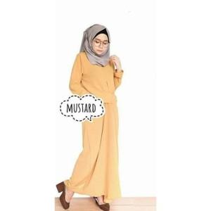 Dress Muslim Model Drappery/ Warna Tidak Pudar/ Kekinian