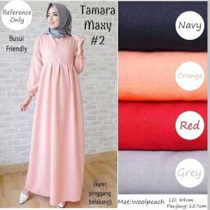 Dress Tamara Maxi Model/ Fashion Hijab Kekinian/ Bermerk