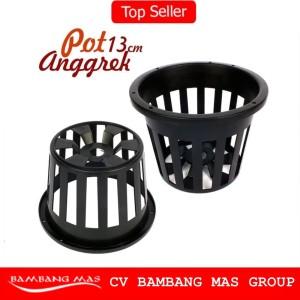 Pot Anggrek Netpot Anggrek Ada Lubang Gantung - Diameter 13 Cm