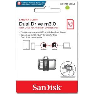Sandisk Ultra Dual Drive OTG 64GB USB M3.0