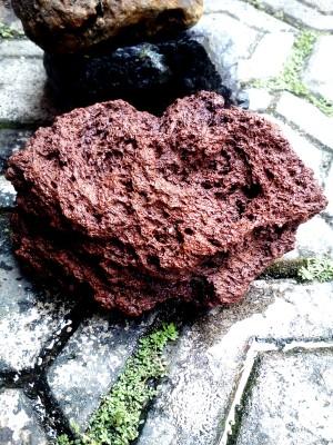 Batu Lava merah ukuran 1 kilo