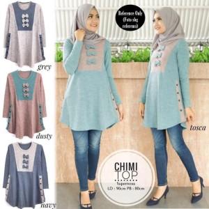 Baju Blouse Muslim Chimi Top/ Baju Atasan Wanita/ Populer