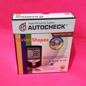 Autocheck Alat Cek Gula Darah, Kolestrol & Asam Urat 3 in 1