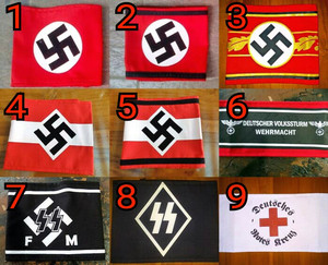 Red /& White support local Biker motorcycle patch WW2 German style 81 Supporter
