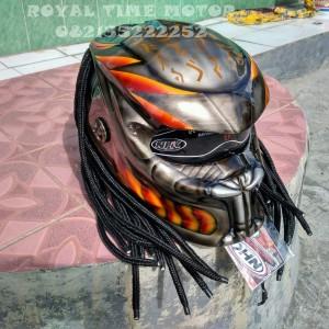 Helm Predator Best Quality With Brush