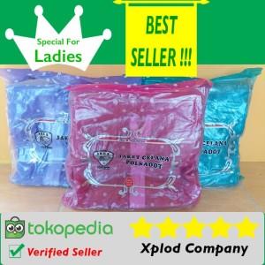 Jas Hujan Wanita Ibex Polkadot Raincoat Special For Ladies Warna Pink