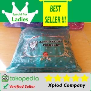 Jas Hujan Untuk Wanita Ibex Polkadot Raincoat Special For Ladies Hijau