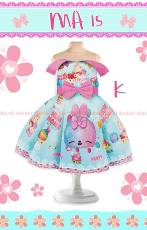 DRESS ANAK MARDI AMBER15 NUM NOMS BLUE