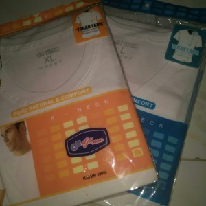 KAOS OBLONG GT MAN MODEL O GTS01 & MODEL V TSGV KHUSUS PUTIH - Putih, S