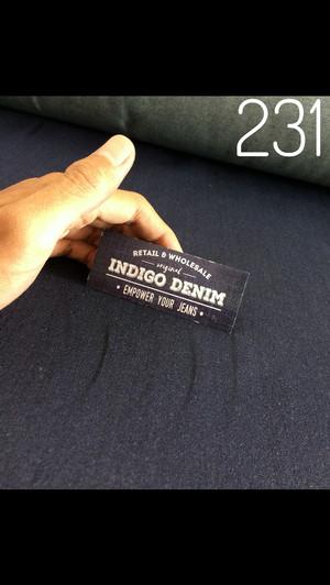 231 - Jual Bahan Jeans / Denim Blue Navy Strech Non Washed Tebal 10oz