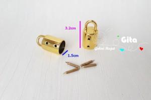 (2pcs) Pengait Lonceng Gold/Kaitan Tas/Kaitan Lonceng