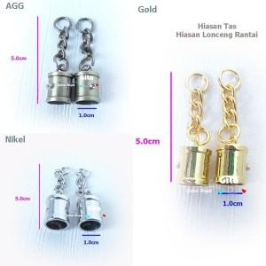 (2pcs) Hiasan Tas/Hiasan Lonceng Rantai/Lonceng Ring Tassel