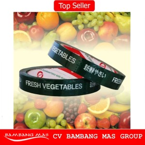 Isolasi Lakban Sayur Hidroponik Fresh Vegetable Daimaru 18mm x 50m