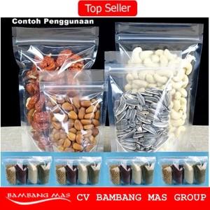 Plastik Kemasan/Standing Pouch/Kemasan Snack/Zipper Lock Uk. 20x12