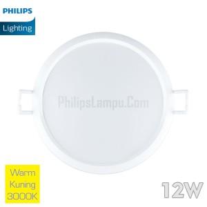 Lampu Downlight LED Philips 12W 59264 Eridani 12 W Warm White Kuning