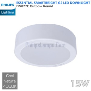 Lampu Downlight LED Outbow Philips 15W DN027C 15 W Cool White Natural