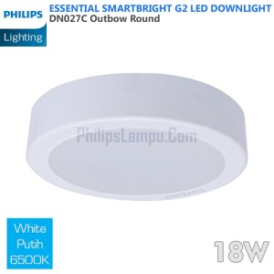 Lampu Downlight LED Outbow Philips 18W DN027C 18 W White Putih