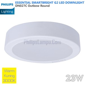 Lampu Downlight LED Outbow Philips 23W DN027C 23 W Warm White Kuning
