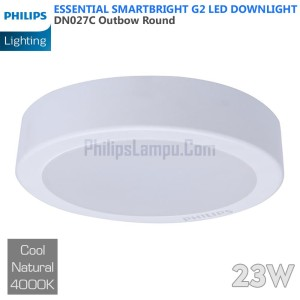 Lampu Downlight LED Outbow Philips 23W DN027C 23 W Cool White Natural