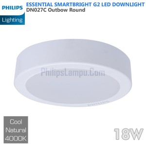 Lampu Downlight LED Outbow Philips 18W DN027C 18 W Cool White Natural