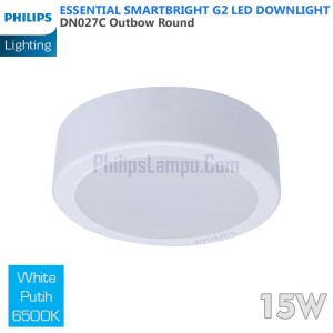 Lampu Downlight LED Outbow Philips 15W DN027C 15 W White Putih