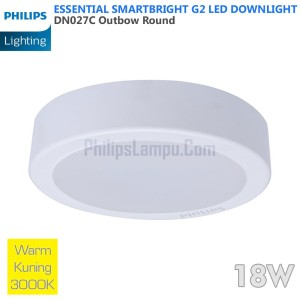 Lampu Downlight LED Outbow Philips 18W DN027C 18 W Warm White Kuning