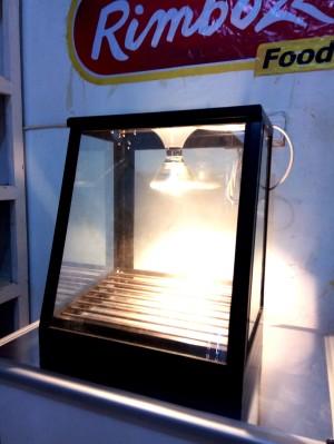 Food warmer Rangka BERWARNA etalase penghangat pemajang makanan -MINI