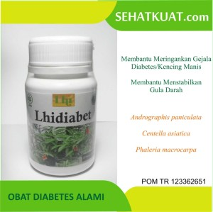 Obat Diabetes Alami Lhidiabet isi 30 pcs ijin resmi BPOM RI