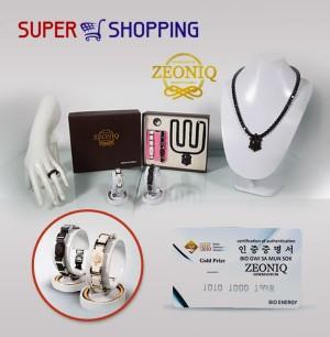 Gelang Kesehatan Bio Magnetik Zeoniq Bonus Kalung - Cincin Kesehatan